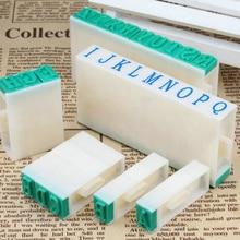 DIY бумажный рабочий дневник Ablum Свадебные буквы алфавит штамп Цифровой Номер Символ уплотнение головы сочетание чернил печать