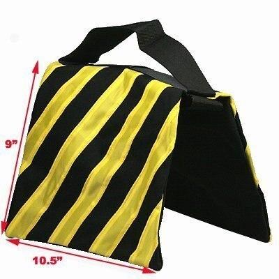 Sac de sable de Studio Photo 4 noir jaune sac de sable résistant photographie Studio vidéo scène Film sac de sable sac de selle pour support de lumière