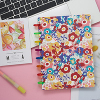 A5 Hand Book Color Cover Mushroom Hole Entry Hand Book Notebook Planner Book Loose Leaf Ring Notebook Diary