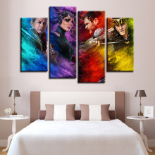 Canvas Paintings Wall Art Framework Movie Characters Pictures Home Decor HD Prints Color Abstract Thor Posters For Living Room(China)