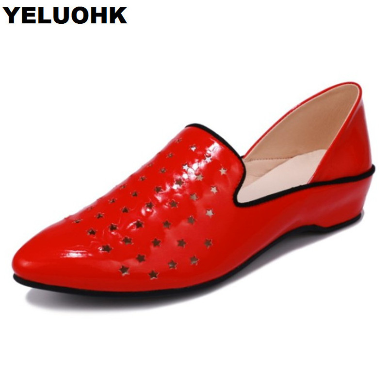 Brand New Summer Shoes Women Low Heel Air Permeable Ladies Shoes Pumps Slip On High Heels Red Shoes brand new fashion casual slip on sweet grey white women shoes solid summer style shoes woman 2 colors low square heels pumps