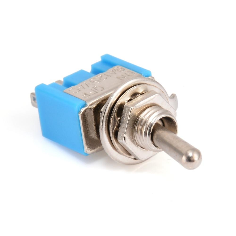 10 stücke MTS-101 2 Pin SPST EIN-AUS 2 Position 6A 125 V AC Mini Kippschalter