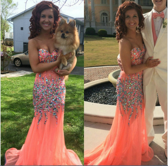 Prom Coral Dresses
