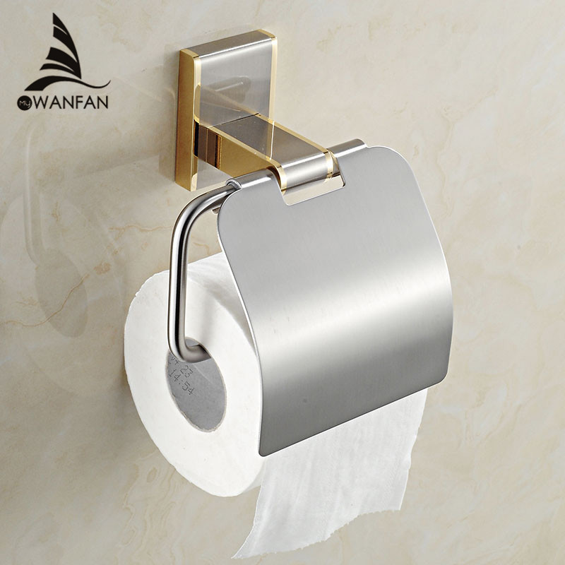 square bathroom accessories products solid brass chrome toilet paper holderroll holdertoilet paper holder with cover 1608