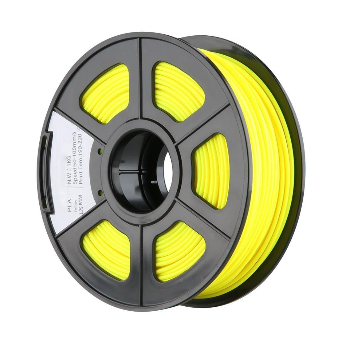 New 1.75mm PLA 3D Printer Filament - 1kg Spool (2.2 lbs) - Dimensional Accuracy +/- 0.02mm - Multi Colors Available (Yellow)  biqu new spool filament mount rack bracket for pla abs filament 3d printer