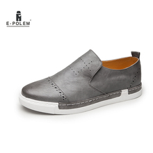 Mens Casual Shoes Hot Sale 2017 Soft Fashion Men Loafers Shoe Slip on Men Leather Flat Mocassins Shoes Designer Male Boat Shoes