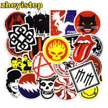 50 Pcs Rock & Roll Stickers Graffiti Sticker for Laptop Luggage Skateboard Guitar Bike Cool Punk PVC Waterproof Stickers Pack(China)