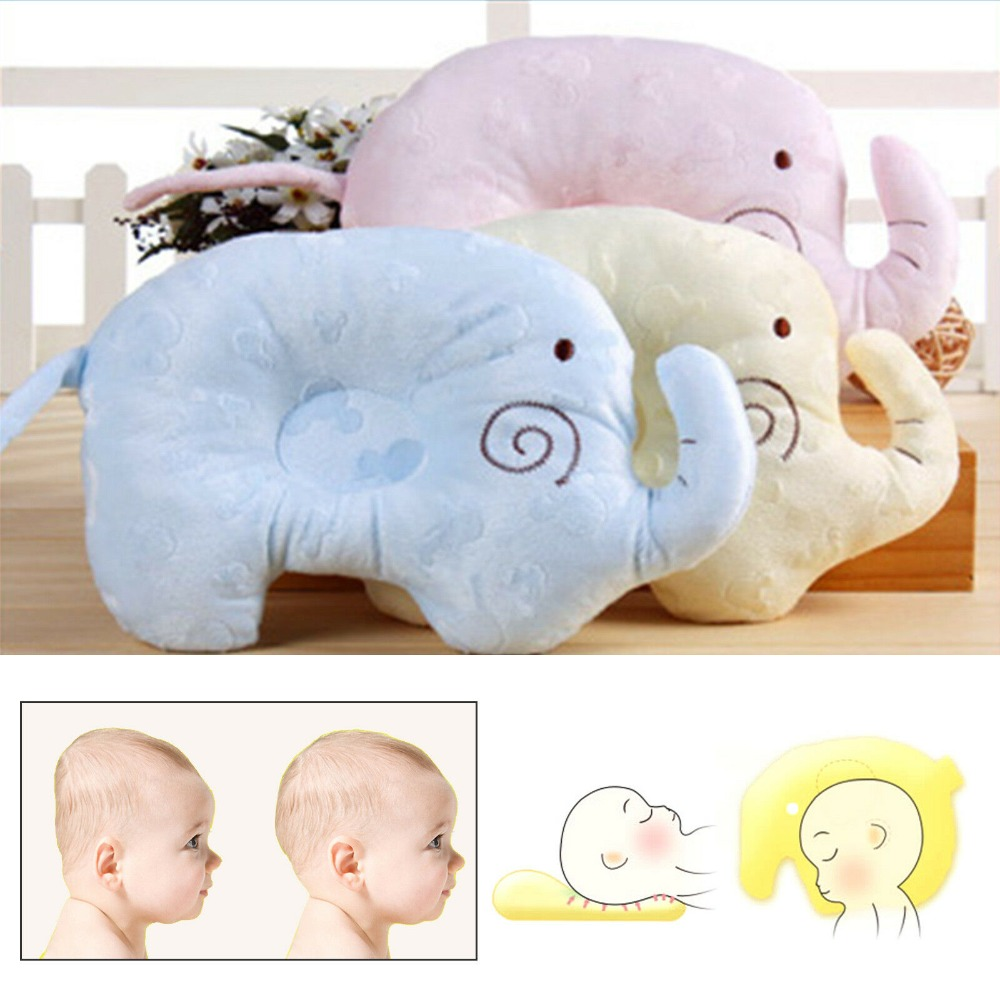 Newborn Baby Boy Baby Girl Memory Cotton Pillow Prevent Flat Head Pillow Anti-roll Healthy Positioner Support Bebe Elephant Gift