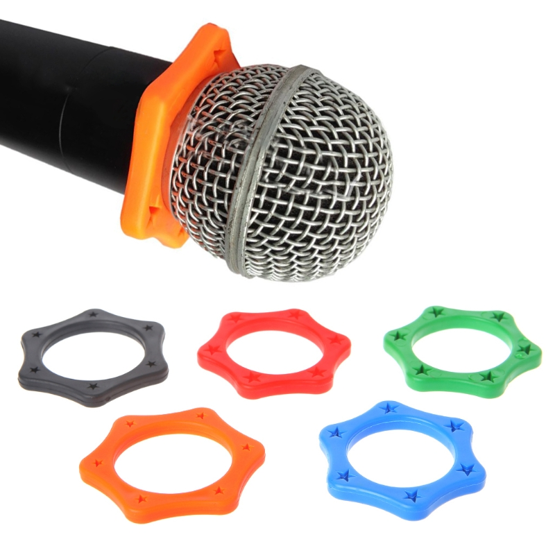 1 Set Rubber Anti Slip Roller Ring Protection For Handheld Wireless Microphone