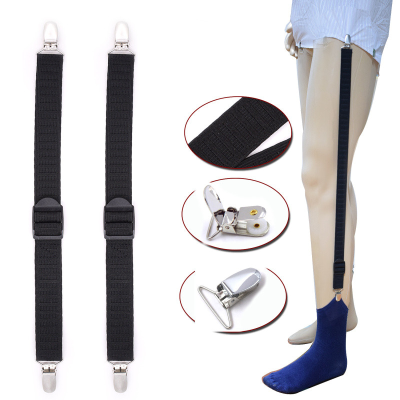 Mens Shirt Stays Holder Military Straight Stirrup Suspenders Elastic Uniform Business Style Suspender Shirt Garters For Men Wear