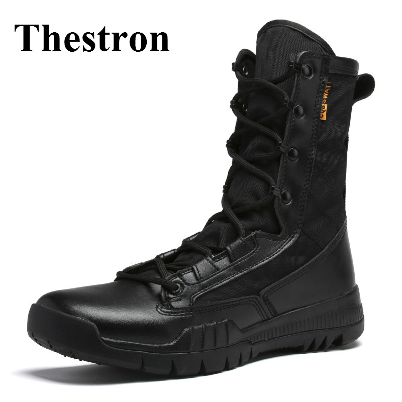 Thestron 2017 Men Mountain Boots Black Brown Outdoor Trekking Shoes High Top Hiking Sneakers Breathable Men Army Boots Hiking форма для выпечки имбирный домик