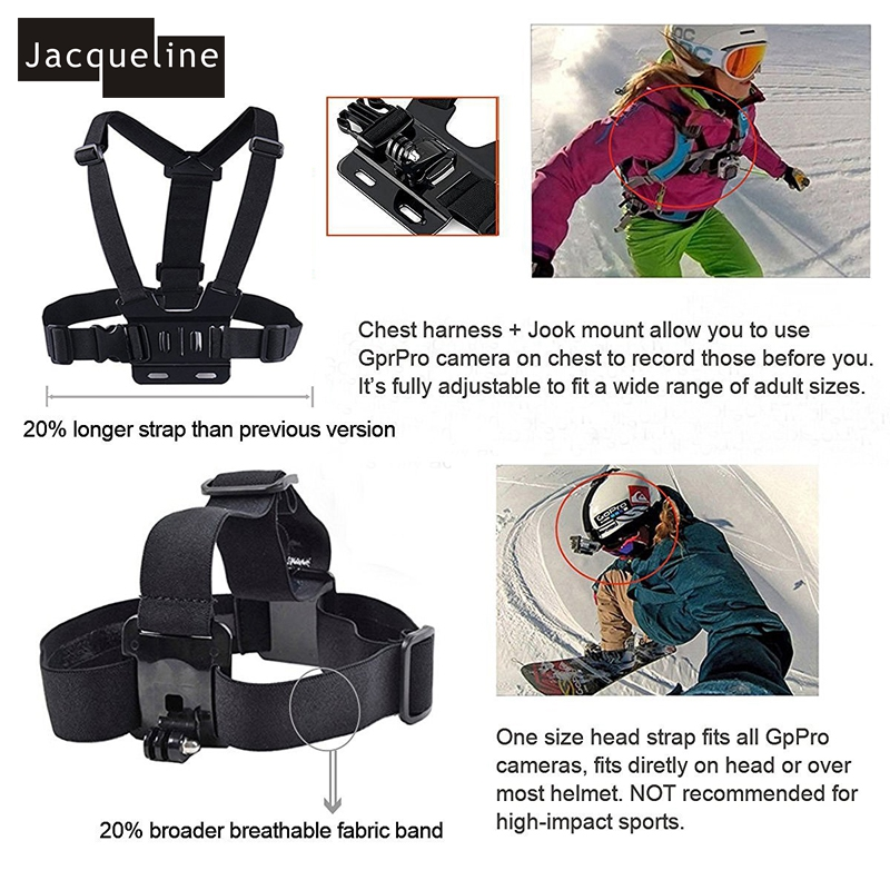 Jacqueline for Bag Accessories Accessories Mout Holder Gopro HD 6 5 4 - Kamera dhe foto - Foto 3
