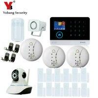 YobangSecurity Wireless IP Camera WIFI GSM GPRS House Burglar Intruder Alarm System Android IOS APP Wireless Strobe Flash Siren