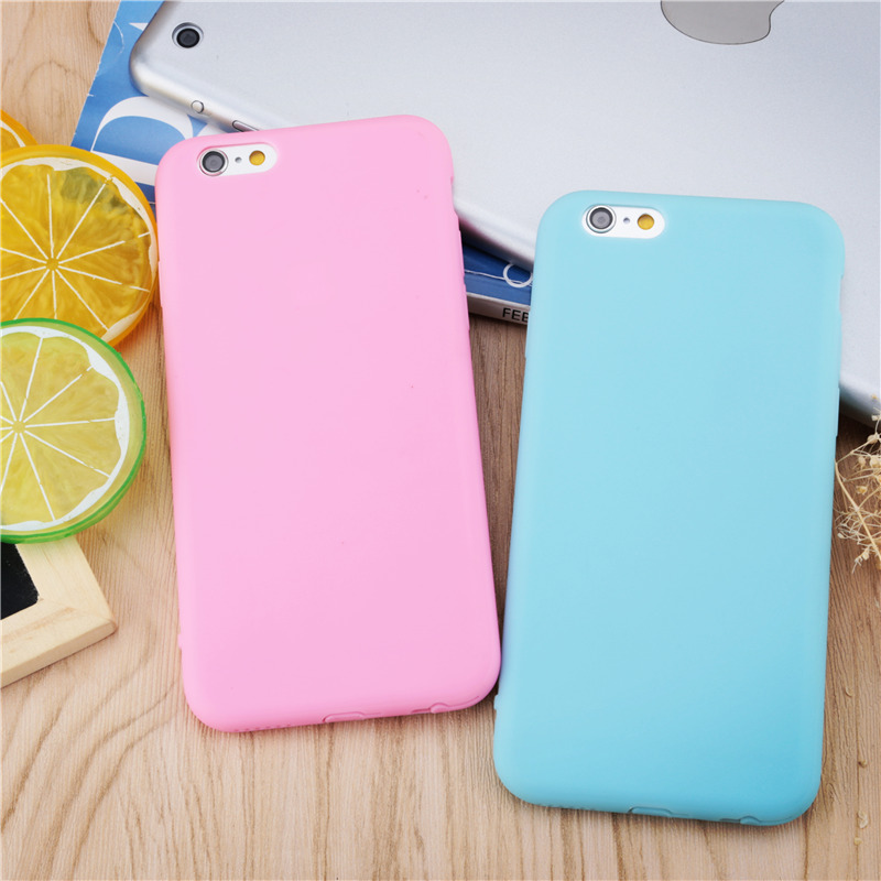 buy online 67acf 50054 US $3.19 |Newest exquisite High quality protect shell with Strap hole  Beautiful Cute Candy color Soft TPU Phone Cases for iPhone 6 6S 4.7