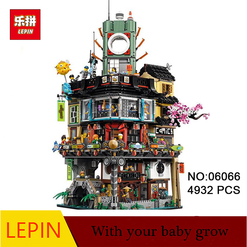 DHL LEPIN 06066  4953pcs Ninja City Construction 06066 lepin Model Building Blocks kid Toys Bricks Compatible 70620 dhl new lepin 06039 1351pcs ninja samurai x desert cave chaos nya lloyd pythor building bricks blocks toys compatible 70596
