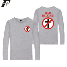 LUCKYFRIDAYF Bad Religion Shirt Spring Couple Unisex T shirt Oversized Fashion Cotton T shirt Men Long