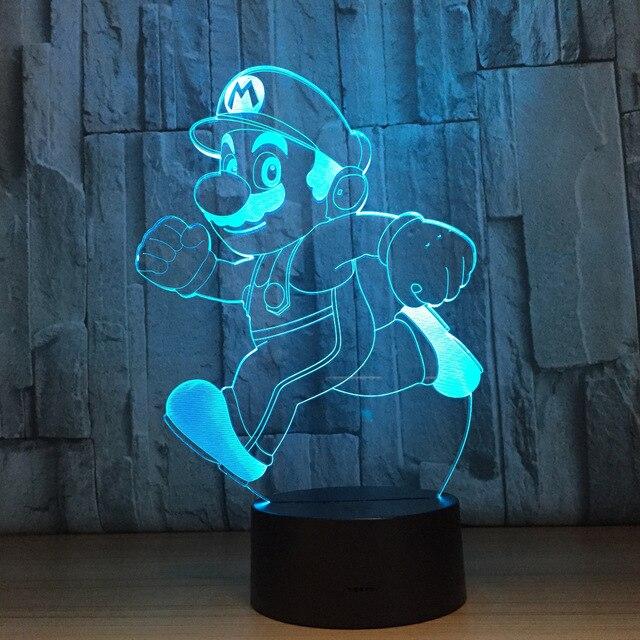 Novelty Lighting Super Mario Bro Table Desk Lamp Touch Sensor 3D LED Bulb  Night Light Atmosphere