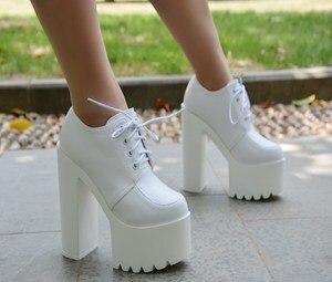 Crude heel super high heel single shoe 2020 autumn new European American style 14 cm sexy women's shoe simple elegant high heels