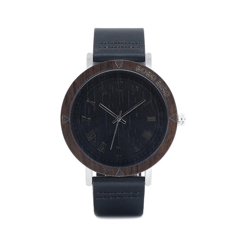 Image 2 - BOBO BIRD WK05 Mens Watch Rome Number Dial Face Soft Leather Band Japan Quartz 2035 Wristwatch Drop Shipping Accept OEM Relogio-in Quartz Watches from Watches