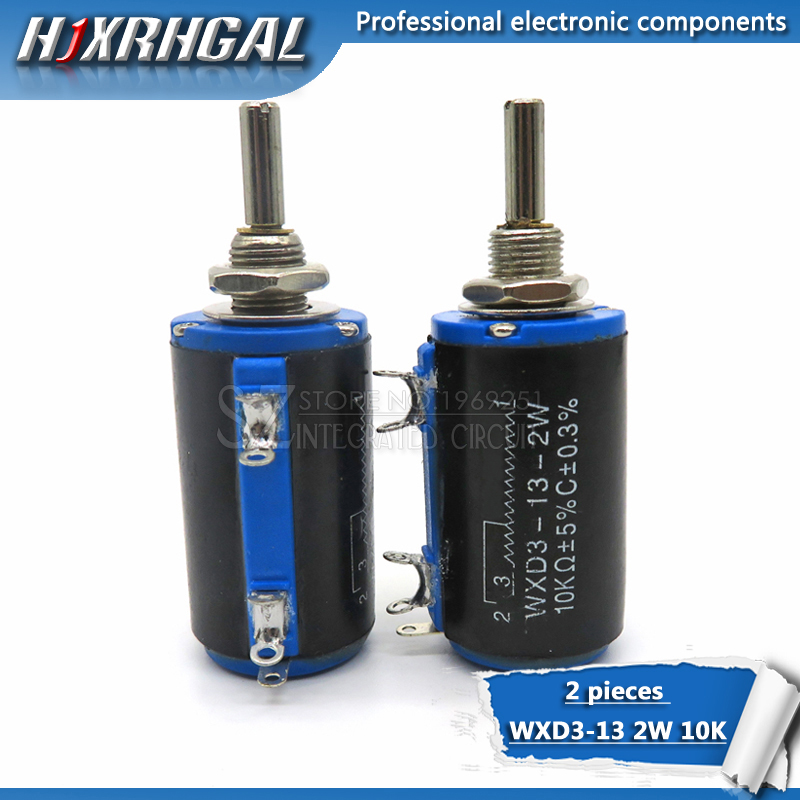 Potentiometers Generous 2pcs Wxd3-13-2w 10k Ohm Wxd3-13 2w Rotary Side Rotary Multiturn Wirewound Potentiometer Invigorating Blood Circulation And Stopping Pains