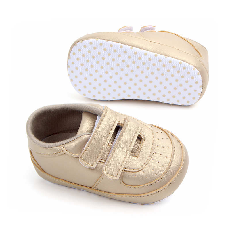 a8f4f8812a52f Aliexpress.com : Buy Little Kids Shoes Newborn Toddler Boy Loafers PU  Leather Hook and Loop Infant Baby Sneakers Anti skip Soft Sole Bebes Crib  Shoes ...