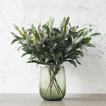 Green Artificial Olive Branch Simulation Plant Olive Home Wedding Decoration Fake Flower Christmas Decoration Flower