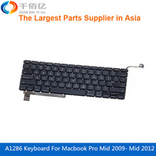 Original New Replacement A1286 US Keyboard for Macbook Pro15′ Mid 2009-Mid 2012 without backlight