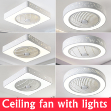 купить TRAZOS Modern LED Ceiling Lights With Fans For Living Room 220V Cooling Ventilador Round Ceiling Fan Lamp With Remote Control дешево