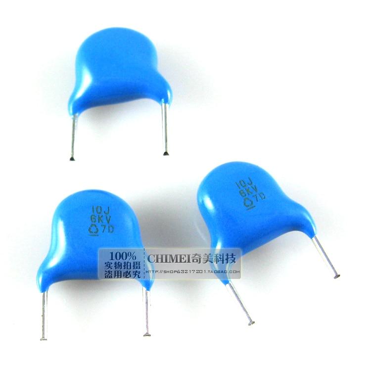 High-voltage ceramic capacitors 6KV 10P 10J LCD TV backlight capacitor