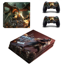 Shadow of War PS4 Pro Skin Sticker and Controllers PS4 Pro Skin Stickers Vinyl Decal