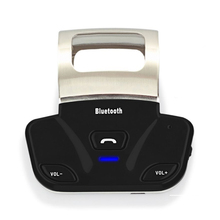 New Alloy Steering Wheel Wireless Bluetooth Handsfree Car Kit Handset Speaker