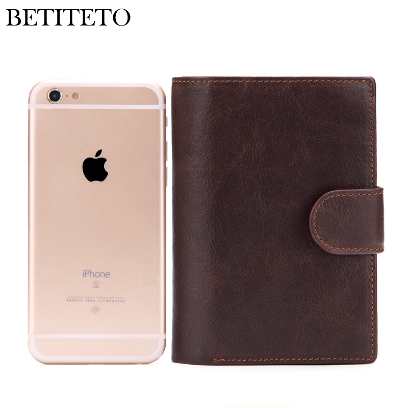 Image 3 - Betiteto Genuine Leather Mens Passport Cover Wallet Large Capacity Passport Holder Coin Purse Men Organizer Wallets Card HolderWallets   -