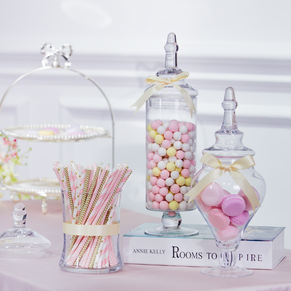 Very creative Transparent glass candy jar, Wedding desserts Display ...