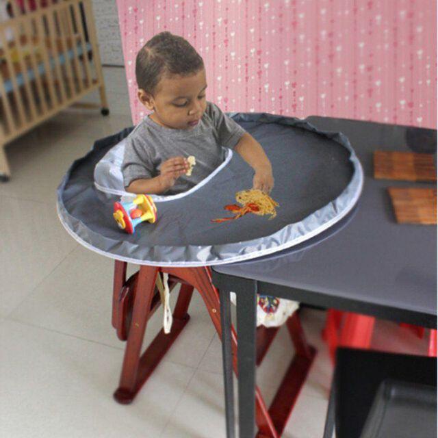 Baby Bibs Eat Seat Feeding Mat Waterproof Oxford Cloth Anti-leak Rice Bib For 1-5Y