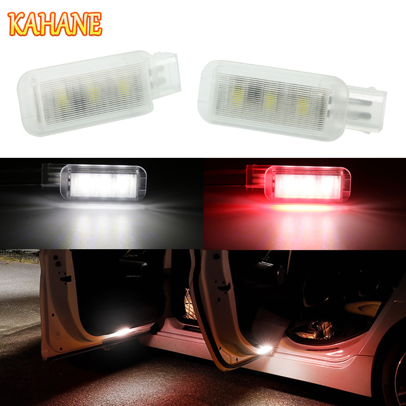 KAHANE 2x LED Car Door Light Strobe Warning Light FOR Audi A3 A4 A5 A6 A7 A8 Q3 Q5 Q7 S3 S4 S5 S6 S7 S8 R8 RS3 RS4 RS5 TT TTS cawanerl car canbus led package kit 2835 smd white interior dome map cargo license plate light for audi tt tts 8j 2007 2012