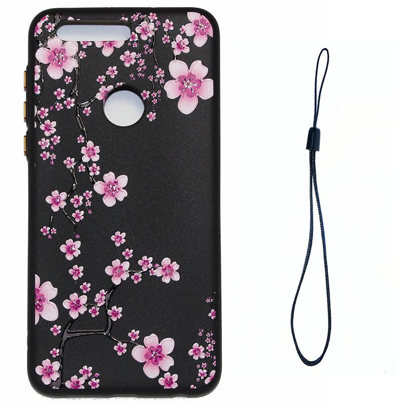 3D Relief flower silicone case huawei honor 8 (6)