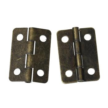 Door Butt Hinges(rotated from 0 degrees to 280 degrees)Antique Bronze 4 Holes 22mm  x 15mm ,100 PCs 2016 new - discount item  10% OFF Furniture Parts