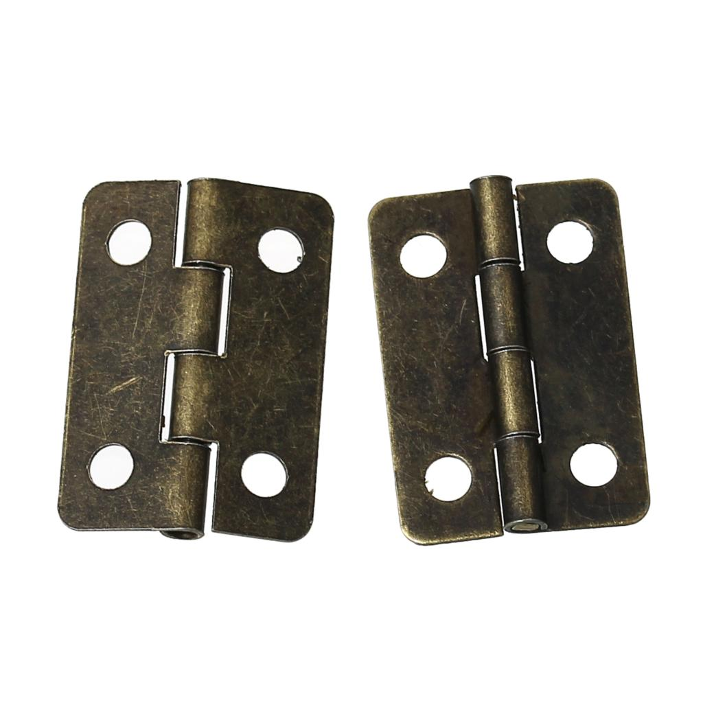 Door Butt Hinges(rotated from <font><b>0</b></font> degrees to 280 degrees)Antique Bronze 4 Holes 22mm x 15mm ,<font><b>100</b></font> PCs 2016 new image