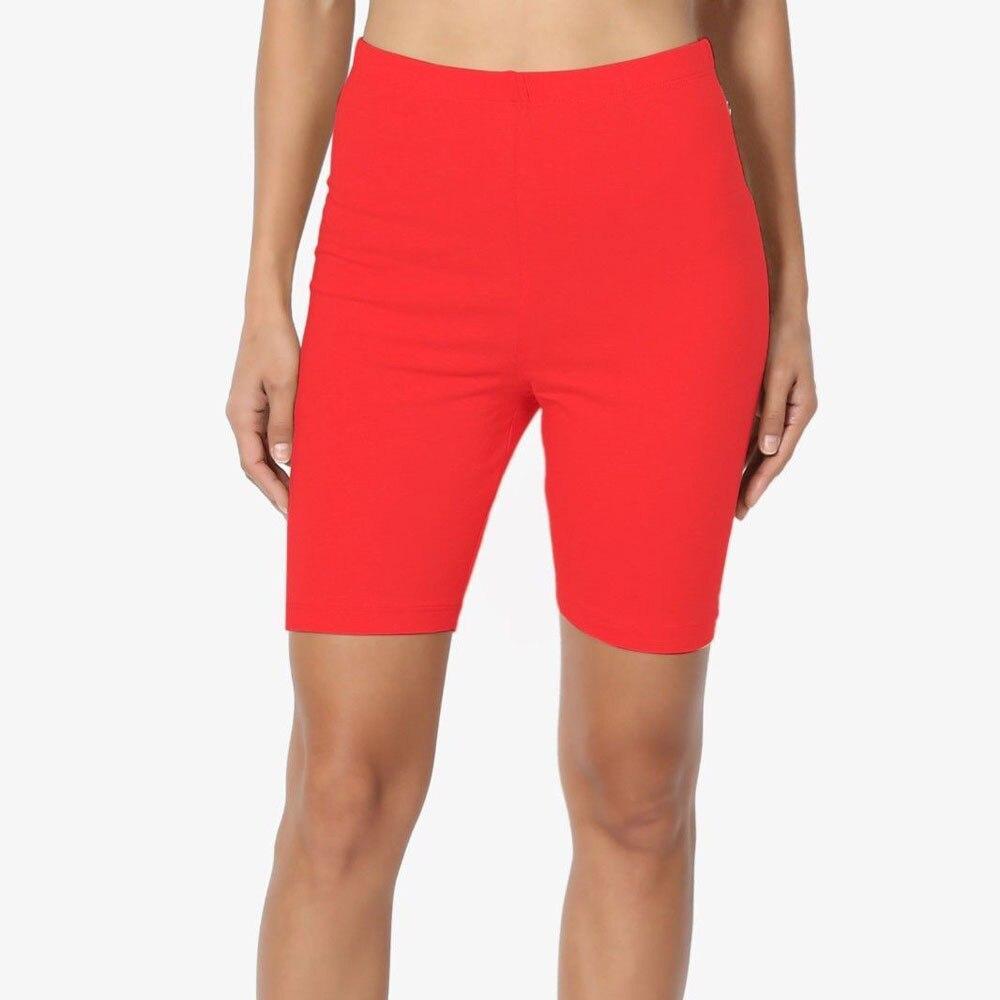 6 colors Women Fashion Solid High Elasticity Gym Active Cycling solid fitness shorts feminino chores para