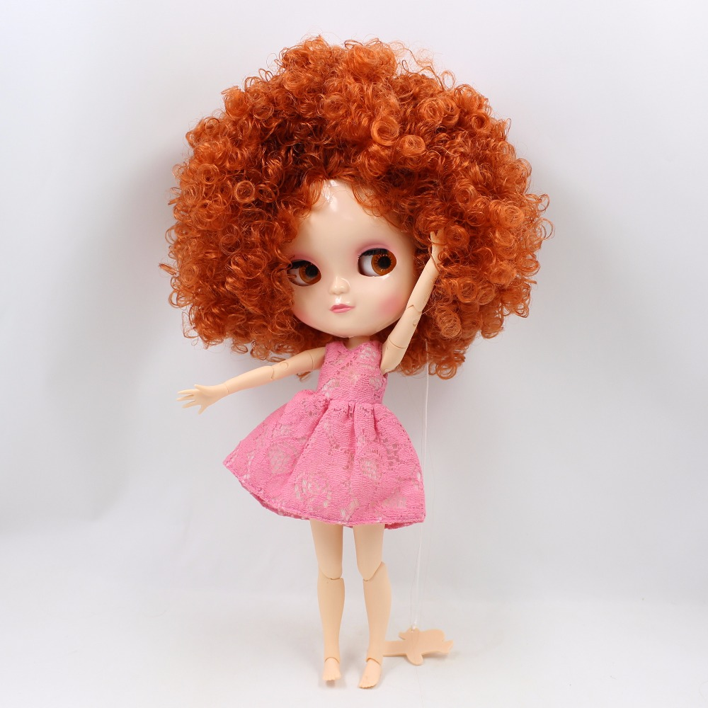 Neo Blythe Doll with Ginger Hair, White Skin, Shiny Face & Jointed Azone Body 2