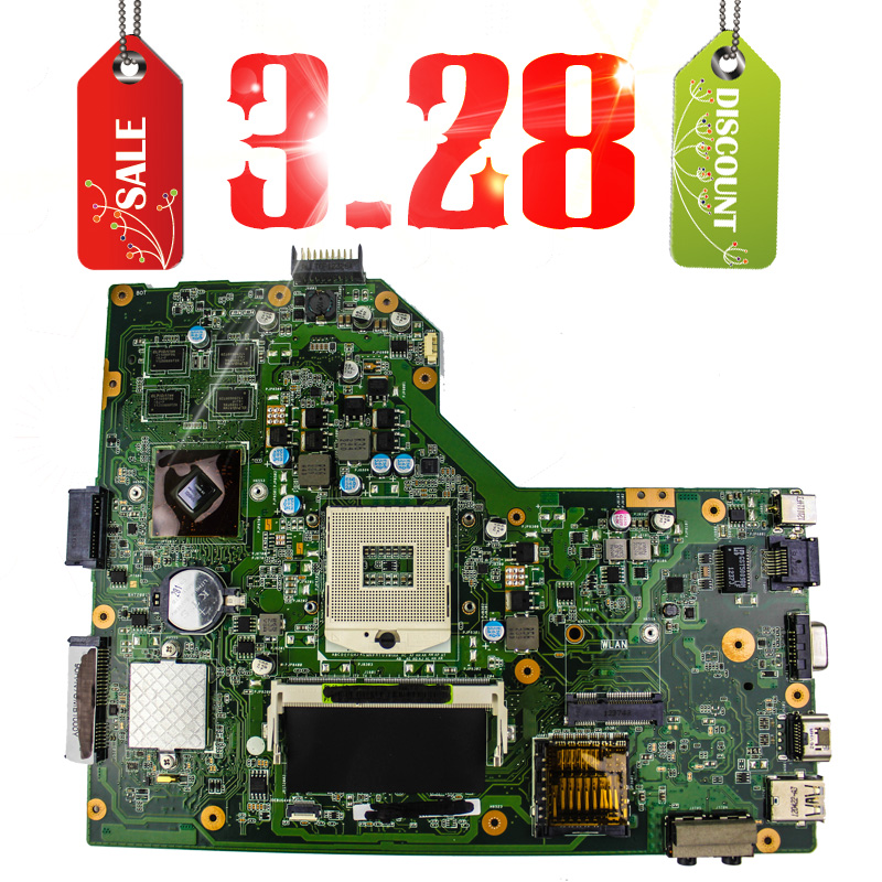 ФОТО Women's day 3.8 laptop Motherboard K54LY Main Board REV2.0 / REV : 2.1 Fit For Asus K54LY K54HR X54H NOTEBOOK PC