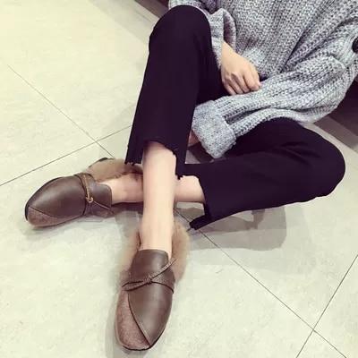 Chaussures 2 Simples Plat Femmes coréen Nouvelle De 1 Sauvage pWRH5w07