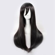 цена на MekakuCity Actors Tateyama Ayano Cosplay Wigs for Women Female Fake Hair 70cm Long Straight Synthetic Hair Wig Dark Brown