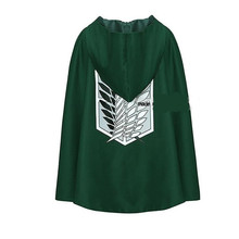 Halloween Costumes adult Cosplay Clothes Attack on Titan Cloak Eren Mikasa Anime Cape Green Giants Unisex Clothing
