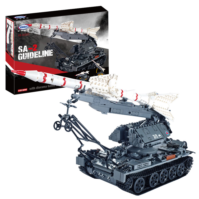 IN STOCK XINGBAO 06003 1623Pcs Military Series The SA-2 Guideline Set Building Blocks Bricks Educational Boy`s Toys Model Gifts 8 in 1 military ship building blocks toys for boys