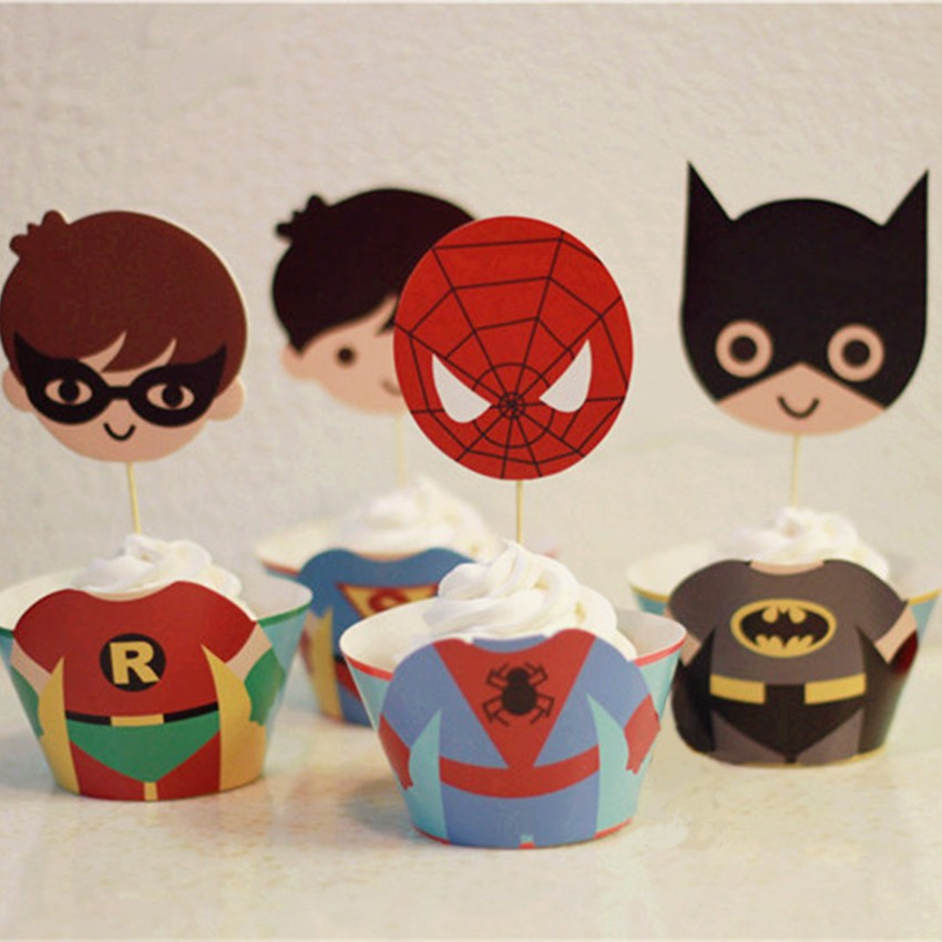 Aliexpress.com : Buy 24pc/set Superman Batman Spiderman