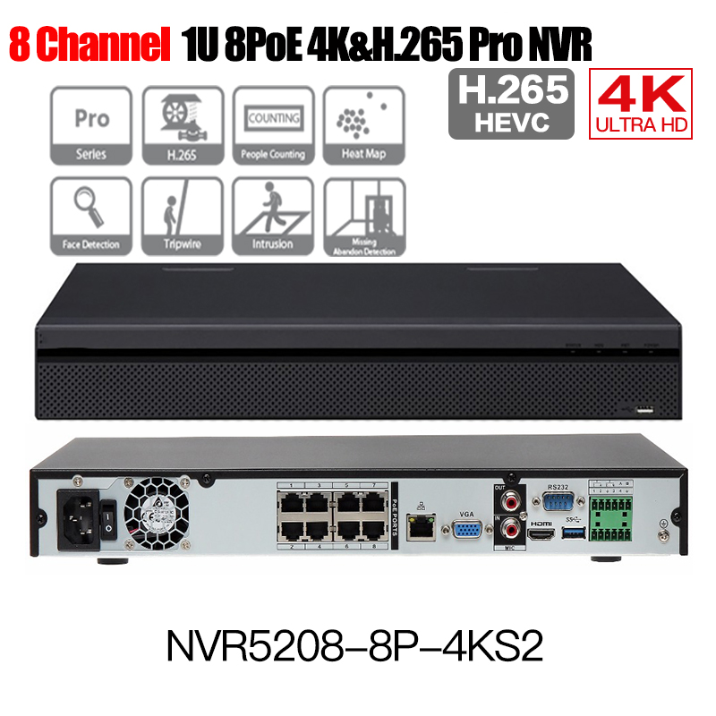 DH 4K H.265 POE NVR NVR5208-8P-4KS2 NVR5216-16P-4KS2 NVR5232-16P-4KS2 8/16/32ch 12MP multi-language Network Video Recording english version nvr5208 4ks2 1u pro network video recorder 4k nvr 8ch without poe ports dh nvr5208 4ks2