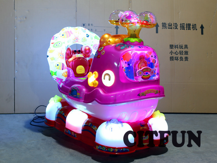 QQ whale coin operated kiddie rides with English controller for sale for CIT-KR001