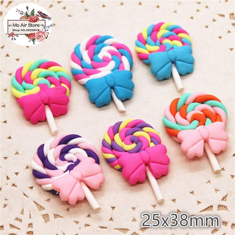 12x Multicolor Food Polymer Clay Flatback Decoration Embellishment Craft DIY