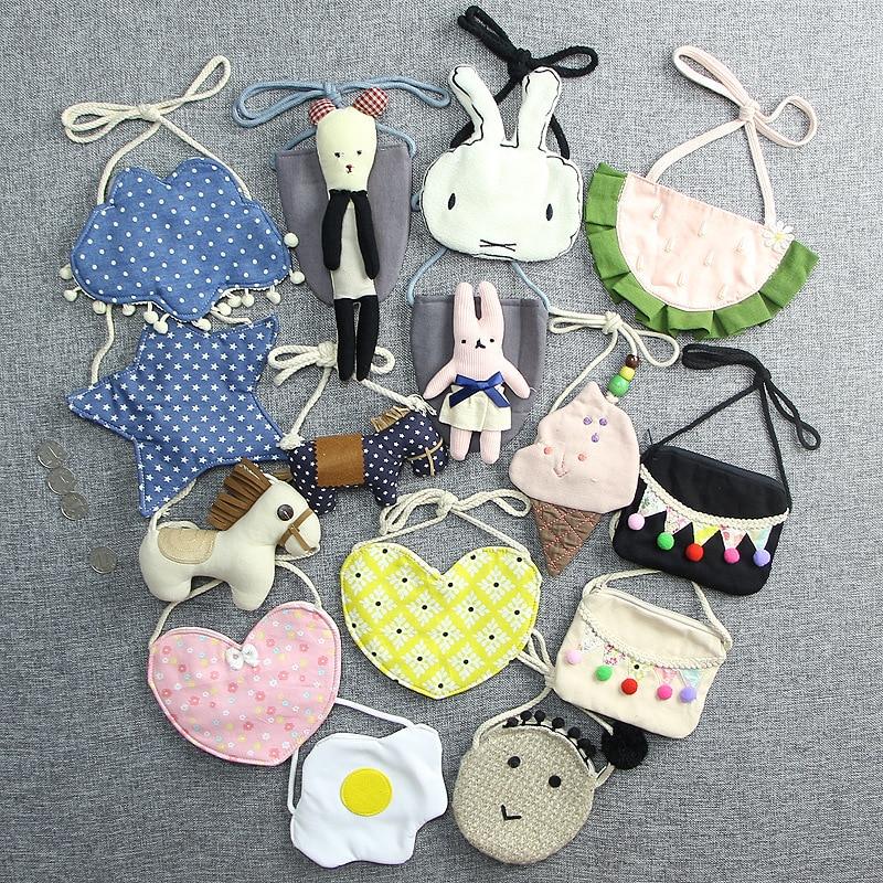 Home Monsisy Christmas Cat Children Handbag Wallet Girl Bag Coin Purse Cotton Bear Toy Kid Shoulder Bag Lovely Baby Toddler Small Bag High Quality